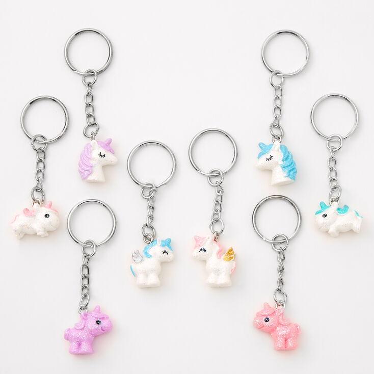 Best Friends Glitter Unicorn Keychains - 8 Pack,