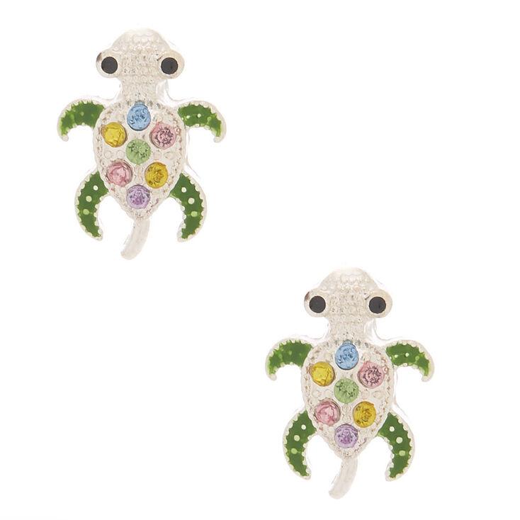 Embellished Turtle Stud Earrings,