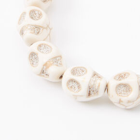 Skull Stretch Bracelet - White,