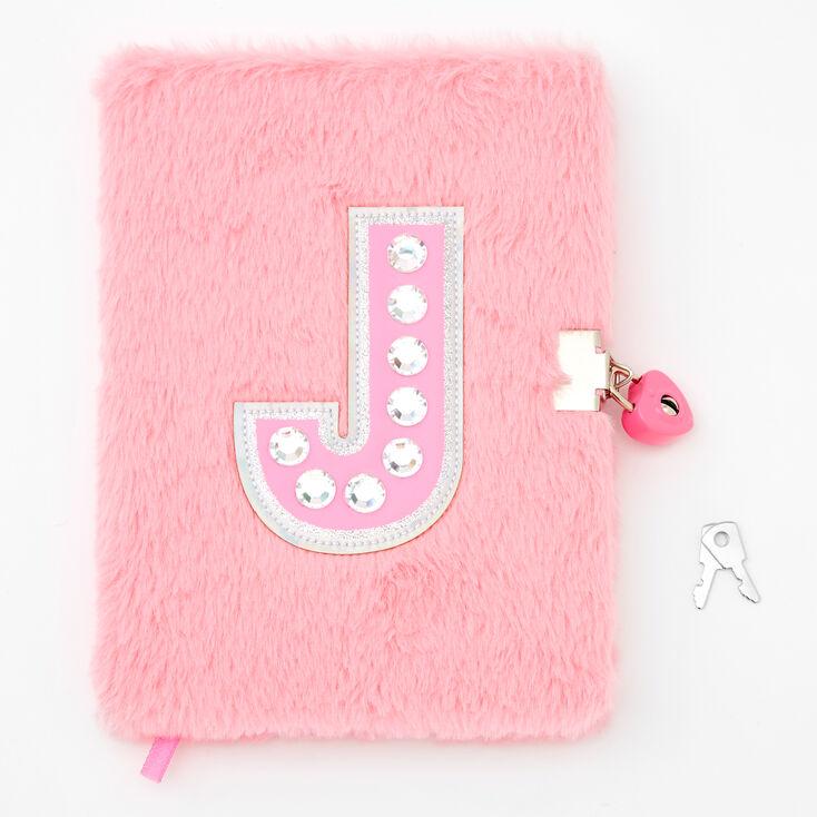Giant Initial Furry Lock Diary - J,