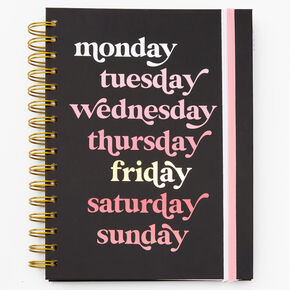Back To School Daily Planner - Pink & Black,