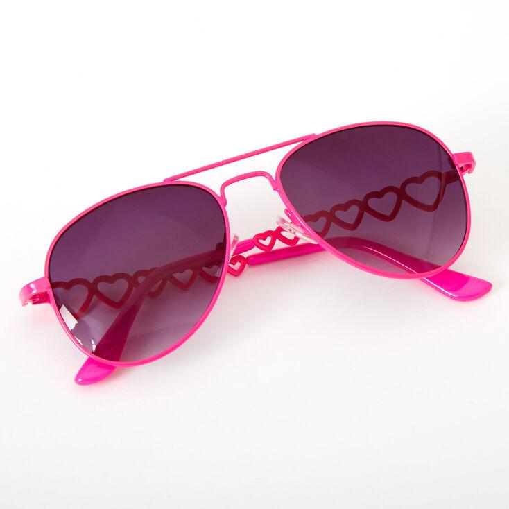 Claire's Club Aviator Sunglasses - Neon Pink,