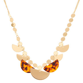 Go to Product: Gold Resin Tortoiseshell Statement Necklace - Brown from Claires