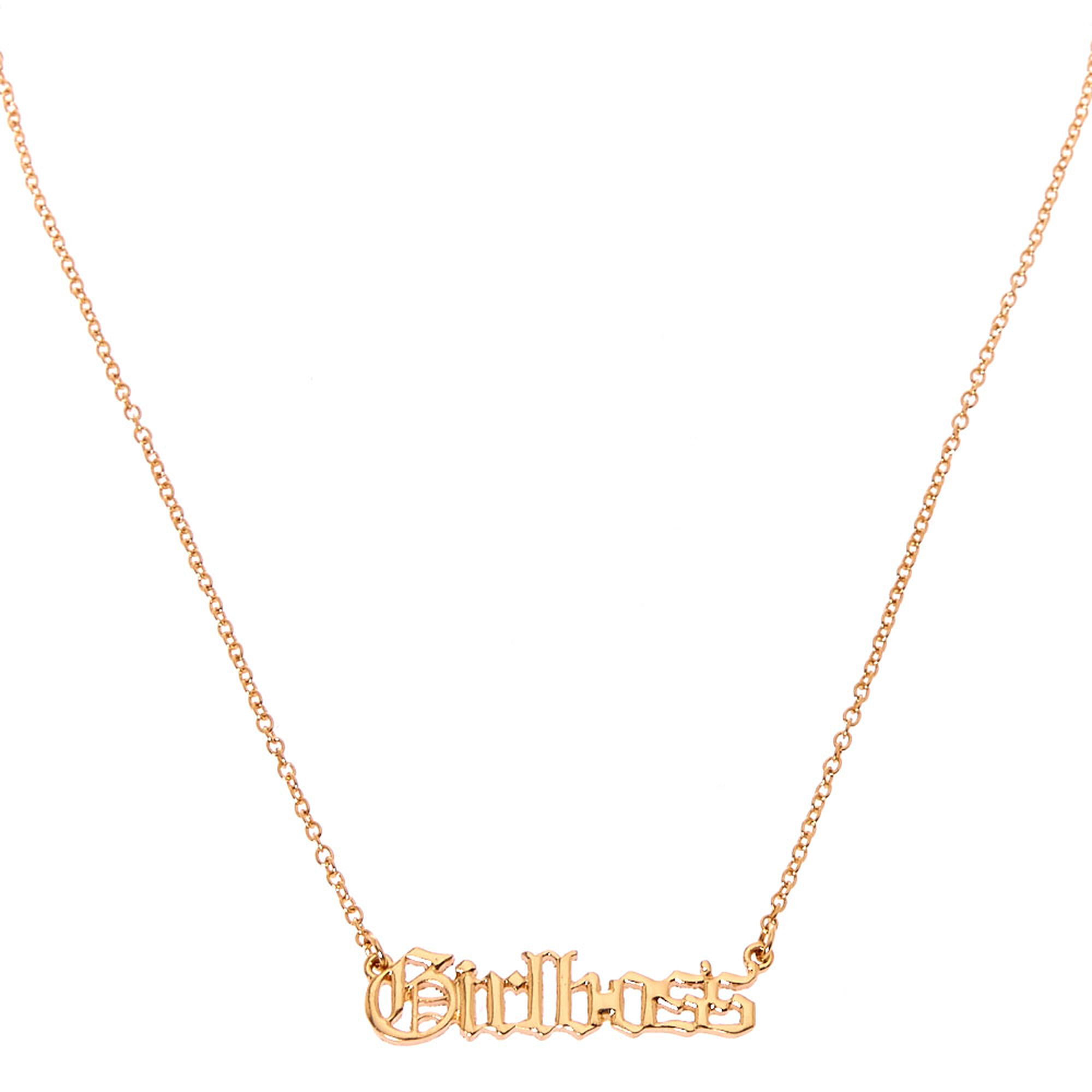 Excellent Girl Boss Necklace | Claire's US NR29