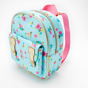 Claire's Club Floral Small Backpack - Mint,