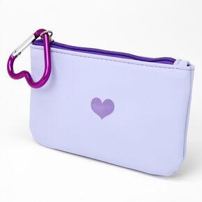 Single Heart Coin Purse - Lavender,