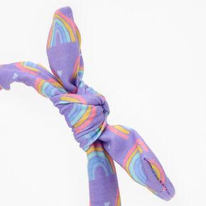 Claire's Club Rainbow Headband - Purple,