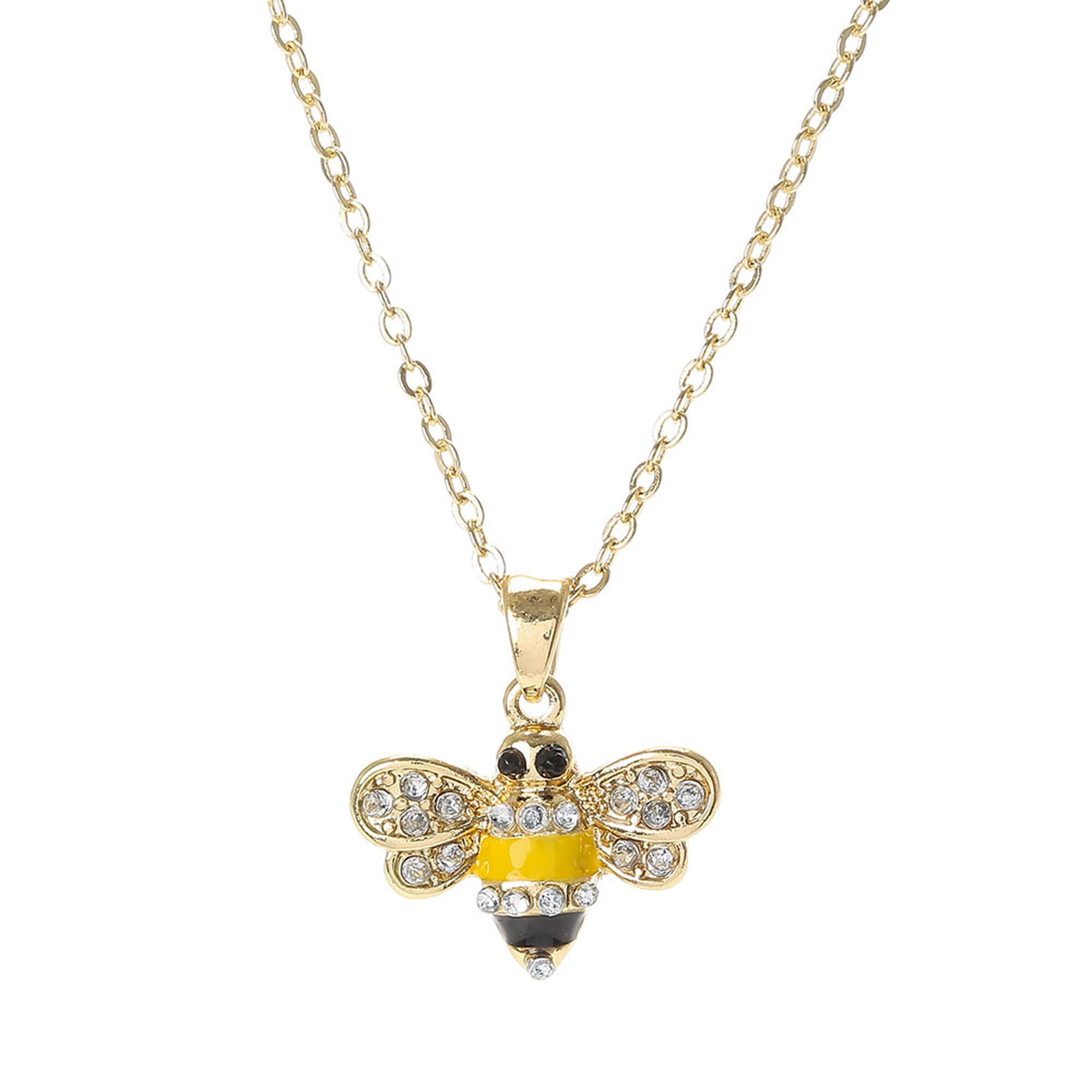 bee sterling silver bumble index pendant