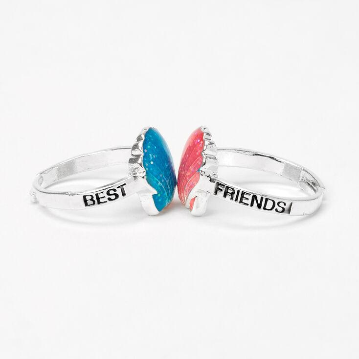 Best Friends Glitter Shell Rings - 2 Pack,