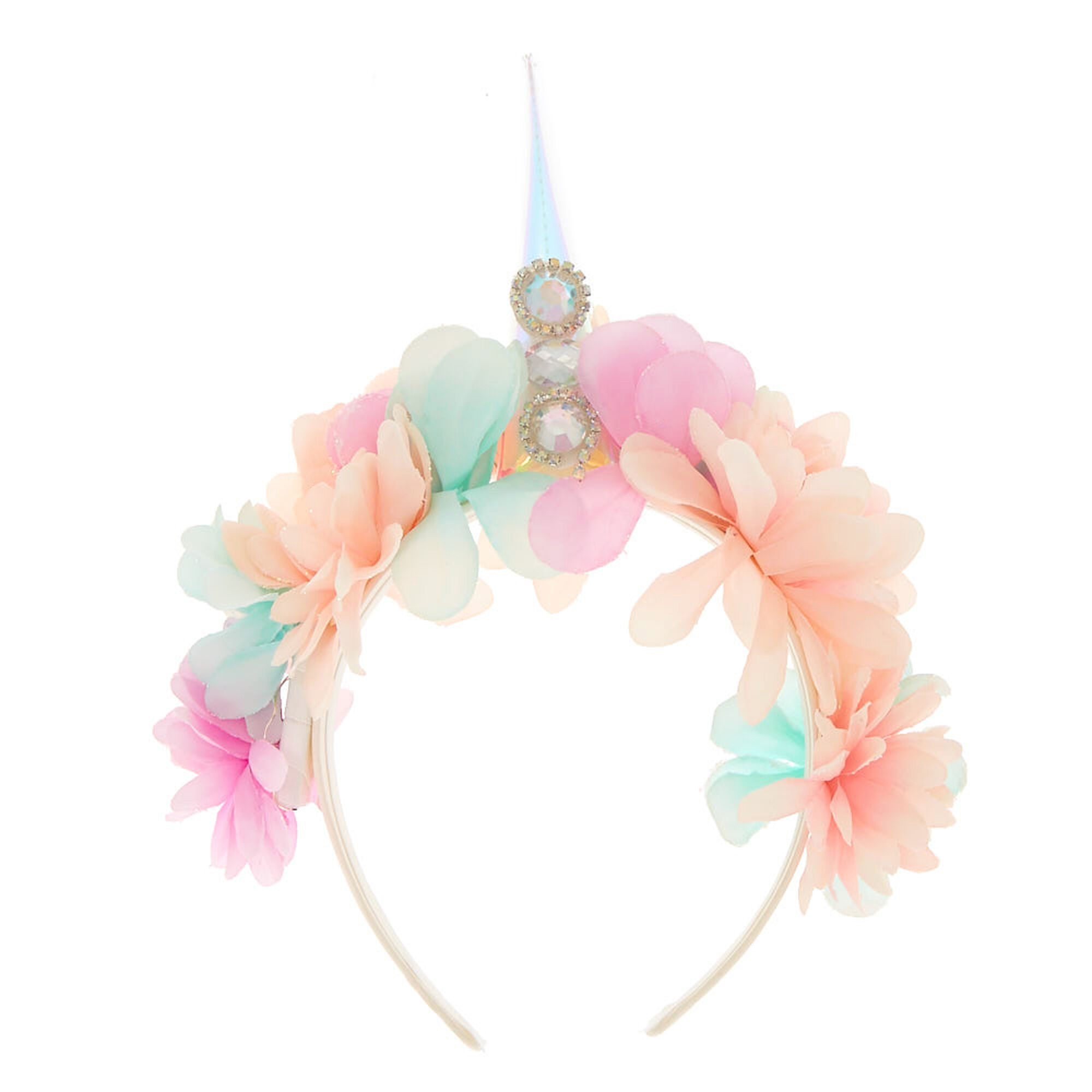 Light up unicorn flower crown headband claires us light up unicorn flower crown headband izmirmasajfo
