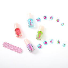 Claire's Club Springtime Nail Kit Treasure Chest - Pink,
