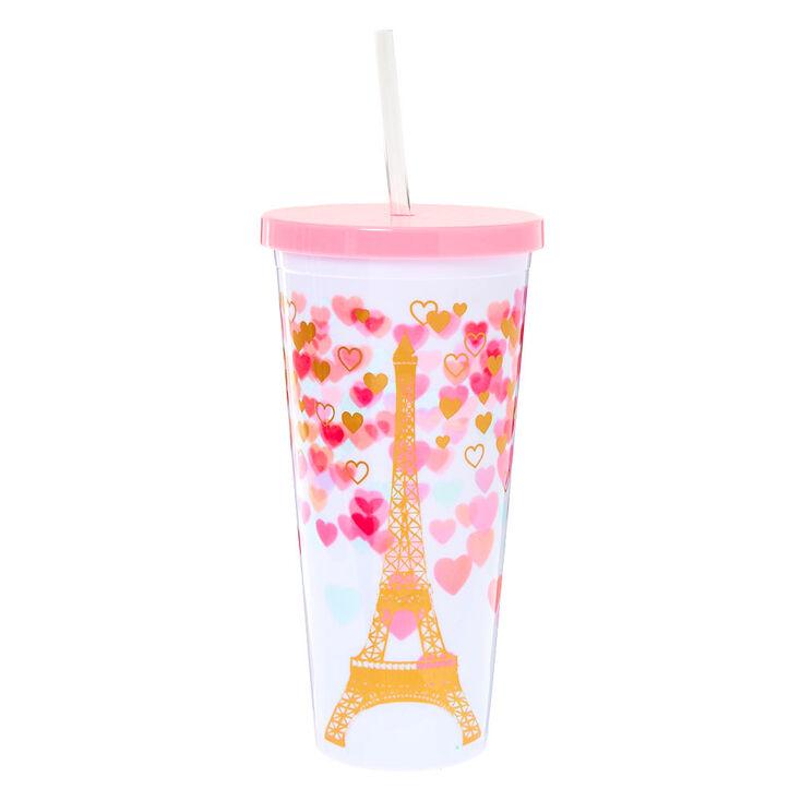 Paris Love Tumbler Cup - White,