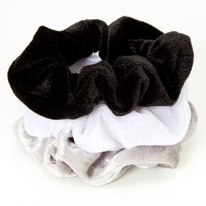 Claire's Club Small Velvet Neutral Hair Scrunchies - 3 Pack,