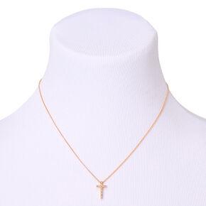 Gold Cross Pendant Necklace,
