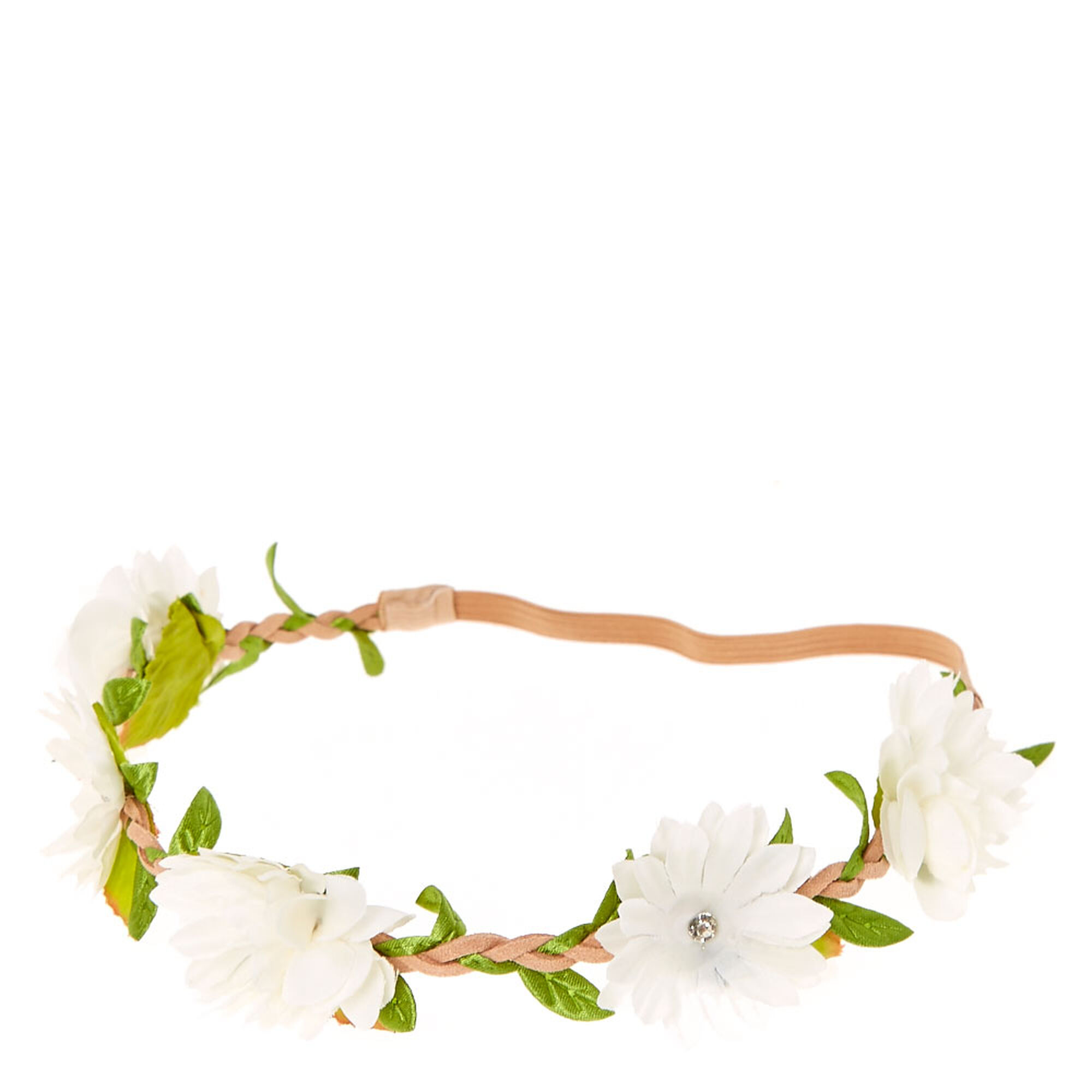 White Daisy Flower Headwrap Claires Us