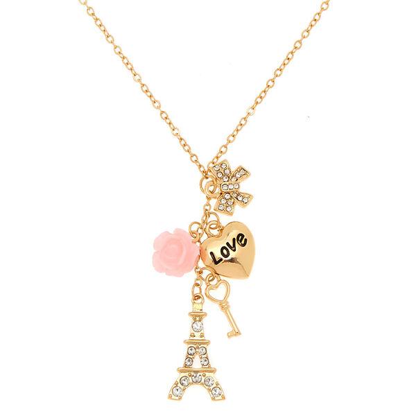 Claire's - paris romance charm pendant necklace - 1