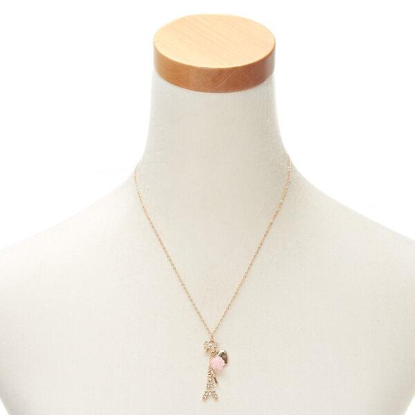 Claire's - paris romance charm pendant necklace - 2