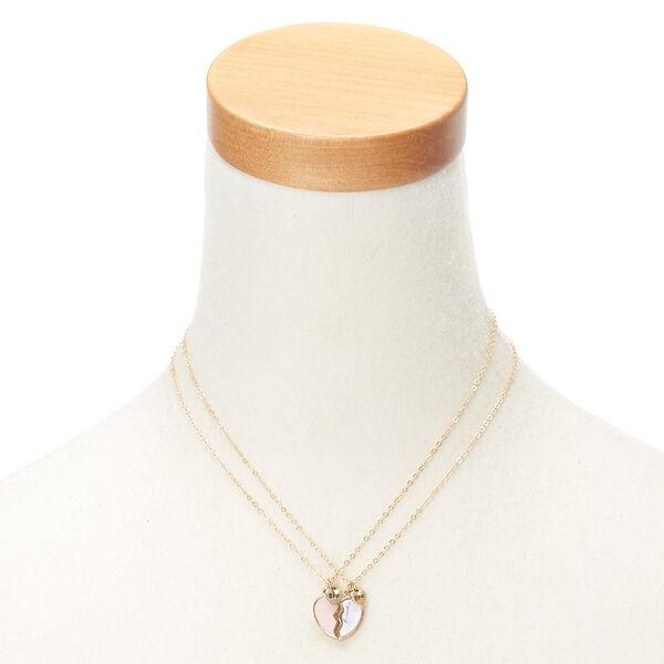 Claire's - best friends broken heart pendant necklaces - 2