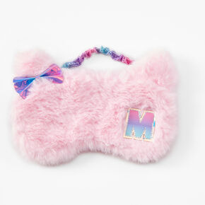 Initial Cat Sleeping Mask - Pink, M,