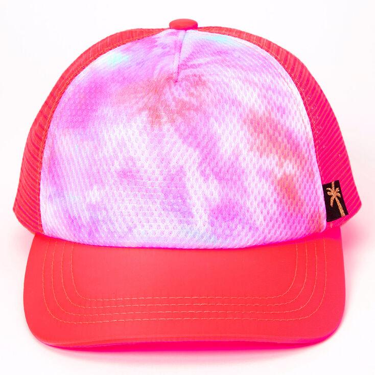 Mesh Tie Dye Trucker Hat - Pink,