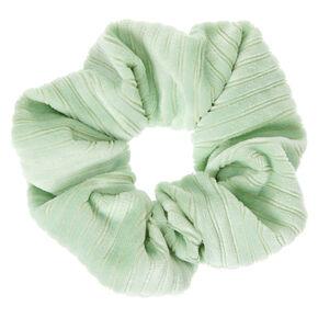 Medium Ribbed Velvet Hair Scrunchie - Mint,