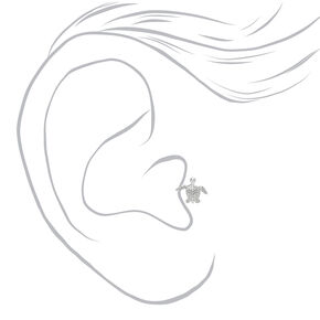 Silver 16G Turtle Tragus Stud Earring,