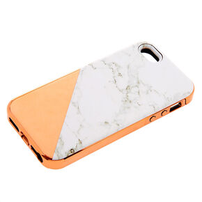 Rose Gold Marble Protective Phone Case - Fits iPhone 6/7/8/SE,