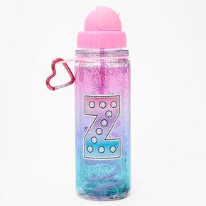 Initial Water Bottle - Pink, Z,