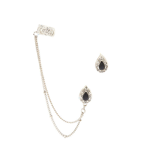 Claire's - teardrop connector earring set - 1