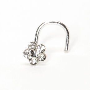 Sterling Silver 22G Dainty Daisy Nose Ring,
