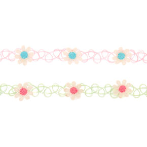 Daisy Tattoo Choker Necklaces - 2 Pack,