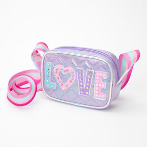 Rainbow Love Crossbody Bag - Purple,