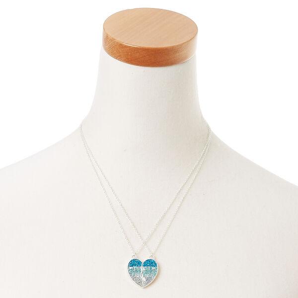 Claire's - best friends glitter spilt heart pendant necklaces - 2