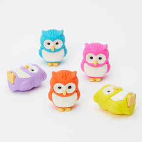 Owl Erasers - 5 Pack,