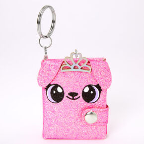 Alexa the Puppy Mini Diary Keychain - Pink,