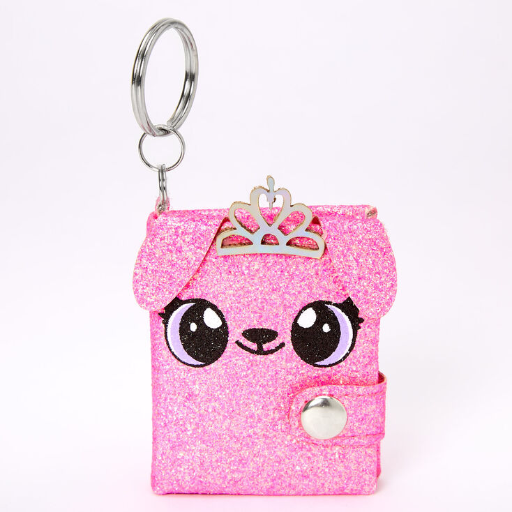 Alexa the Puppy Mini Diary Keychain - Pink,