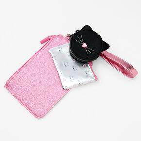 Cat Wristlet Trio - 3 Pack, Pink,