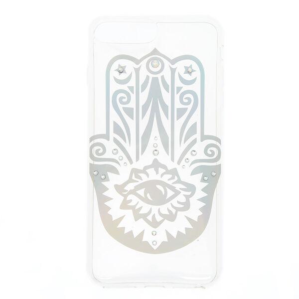 Claire's - holographichamsa hand phone case - 1