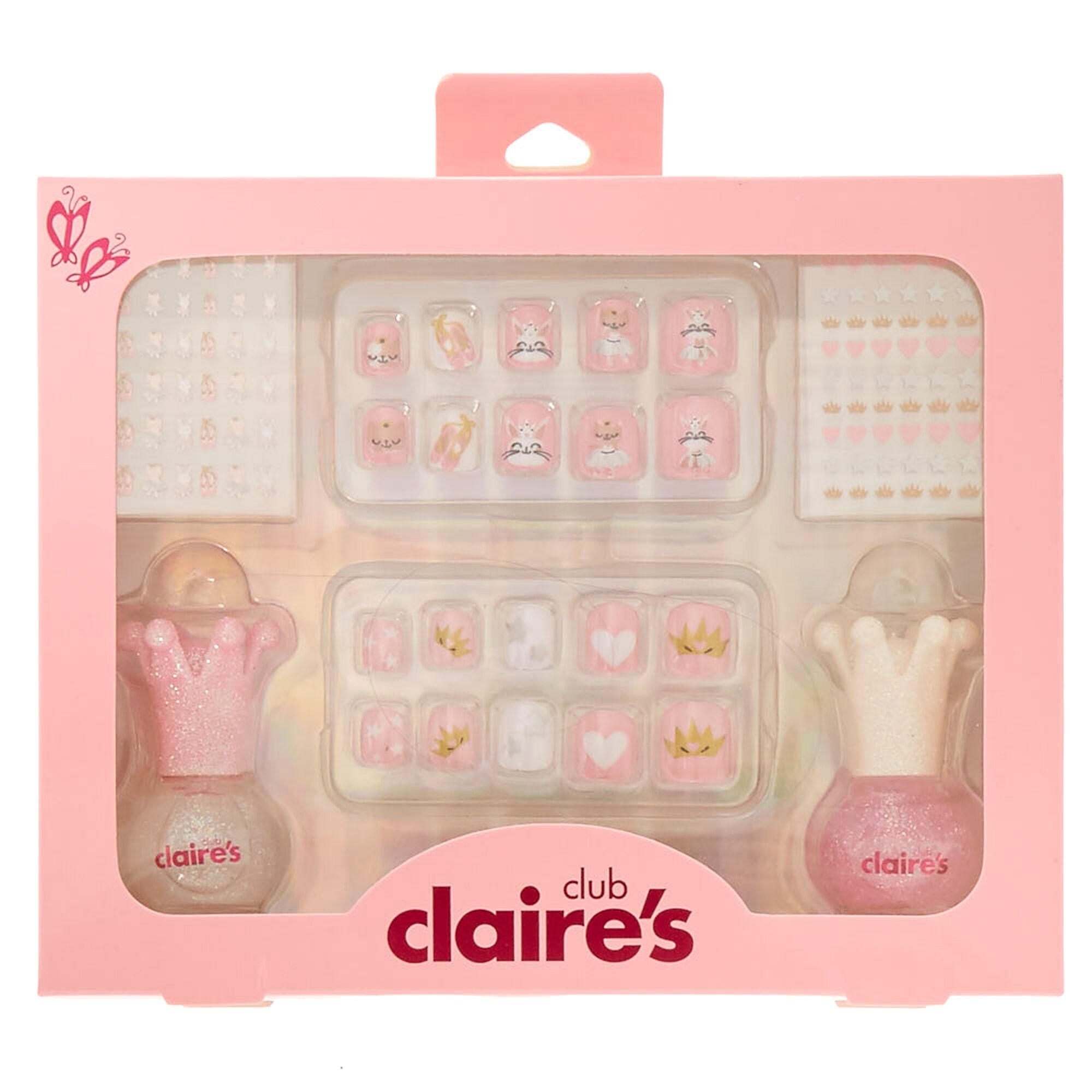 Kids Pink Glitter Ballerina Nail Art Set   Claire\'s US