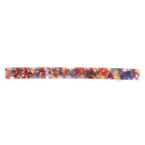 Skinny Abstract Resin Hair Barrette,