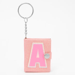 Initial Mini Journal Keychain - A,