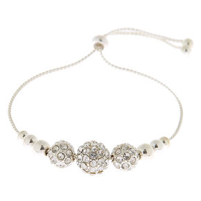 Silver Fireball Adjustable Bracelet,