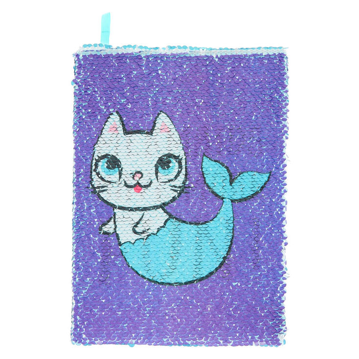 3bd17f60055 Mermaid Cat Reversible Sequin Diary