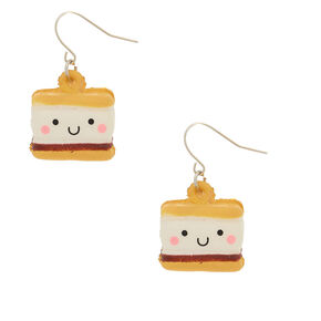 """1"""" S'mores Squish Drop Earrings,"""