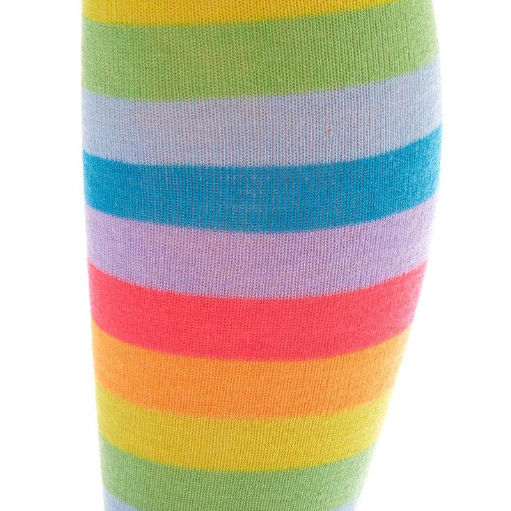 Neon Stripe Over the Knee Socks,
