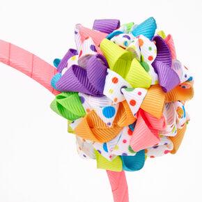 Rainbow Ribbon Clusters Headband,