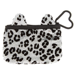 Sequin Leopard Coin Purse,