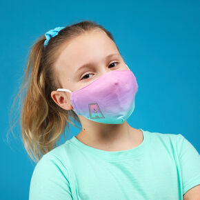Cotton Ombre Initial L Face Mask - Child Medium/Large,