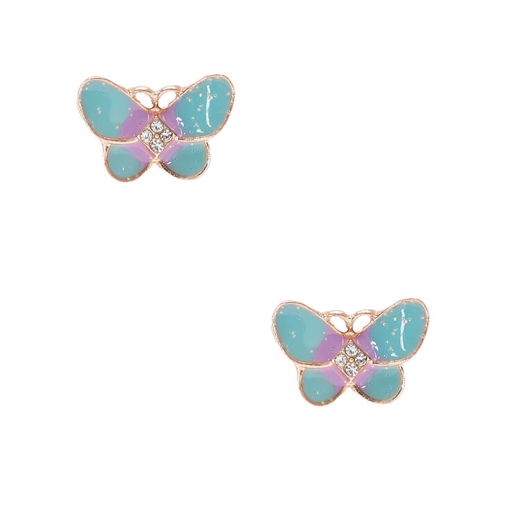 070bfbbac Pastel Butterfly Stud Earrings - Mint | Claire's