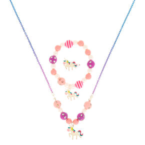 Claire's Club Unicorn Jewellery Set - Pink, 3 Pack,